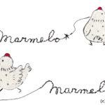 marmelo*ロゴ(線画タッチ)
