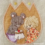 「野ねずみばあさんの刺繍教室」(『おやゆび姫』/2013個展)